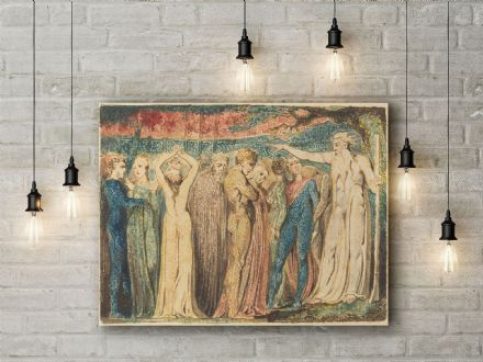 William Blake: Joseph of Arimathea Preaching to the Britons. Religious Fine Art Canvas.